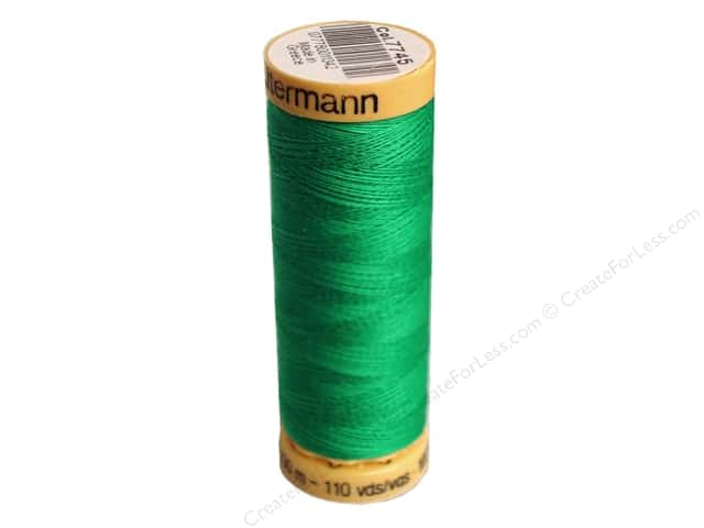 Gutermann 100% Natural Cotton Sewing Thread 109 yd. #7745 Teal Green
