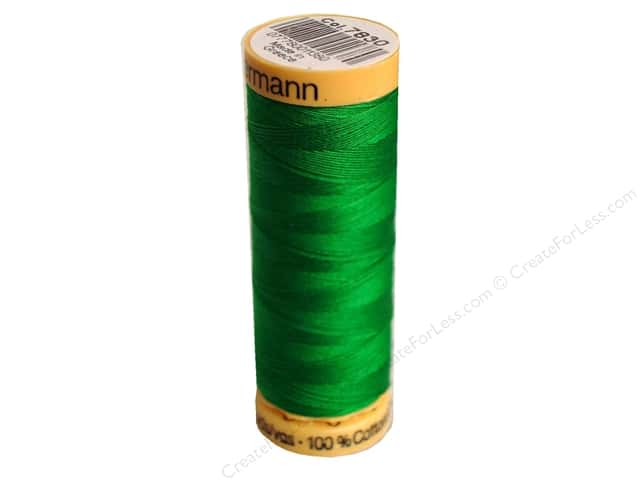 Gutermann 100% Natural Cotton Sewing Thread 109 yd. #7830 Bright Green