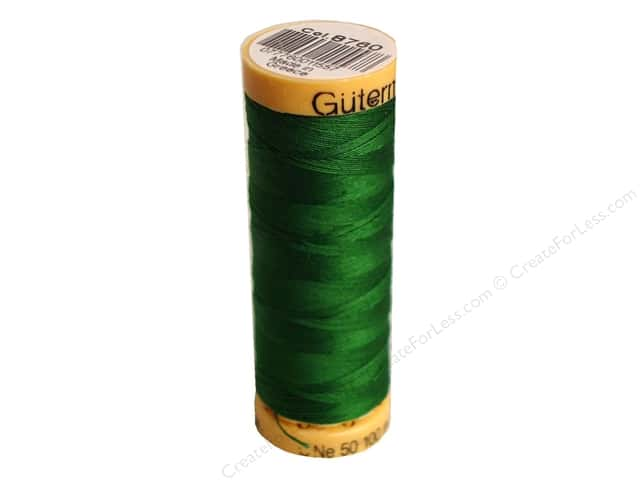 Gutermann 100% Natural Cotton Sewing Thread 109 yd. #8760 Emerald