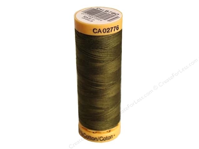 Gutermann 100% Natural Cotton Sewing Thread 109 yd. #8780 Olive Drab