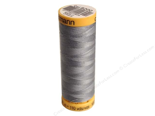Gutermann 100% Natural Cotton Sewing Thread 109 yd. #9200 Nugrey
