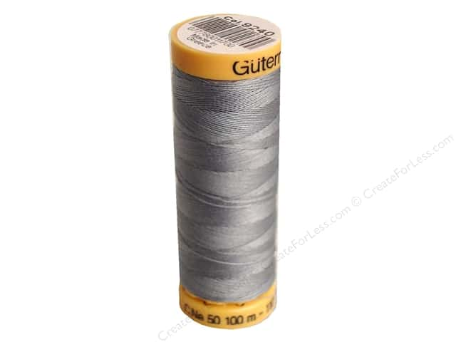 Gutermann 100% Natural Cotton Sewing Thread 109 yd. #9240 Grey Blue