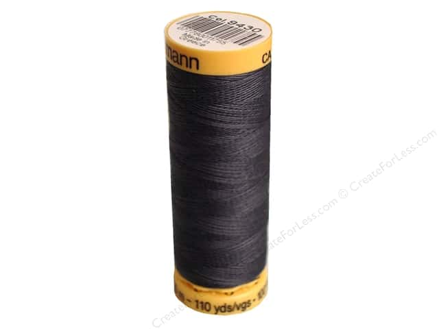 Gutermann 100% Natural Cotton Sewing Thread 109 yd. #9430 Graphite