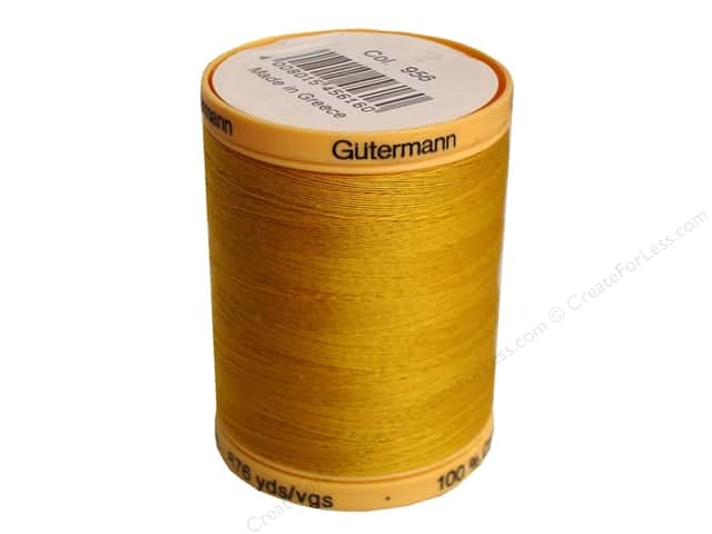 Gutermann 100% Natural Cotton Sewing Thread 875 yd. #956 Gold
