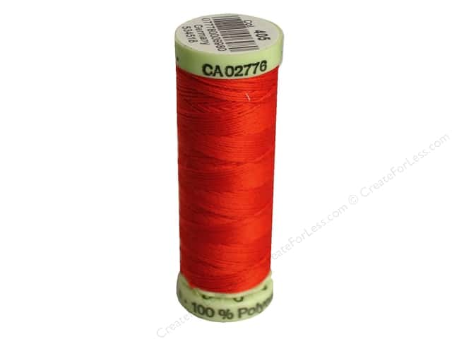 Gutermann Top Stitch Heavy Duty Thread 33 yd. #405 Flame Red