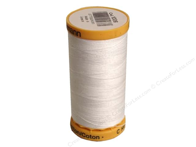 Gutermann 100% Natural Cotton Sewing Thread 273 yd. #1006 White