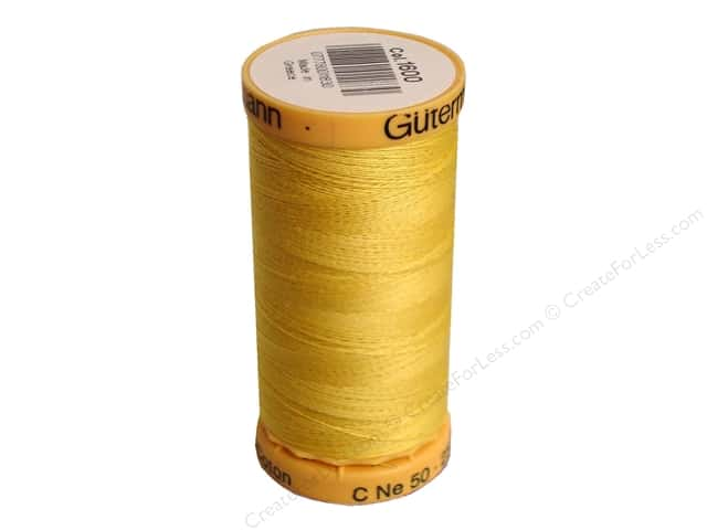 Gutermann 100% Natural Cotton Sewing Thread 273 yd. #1600 Yellow