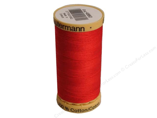 Gutermann 100% Natural Cotton Sewing Thread 273 yd. #4880 Red