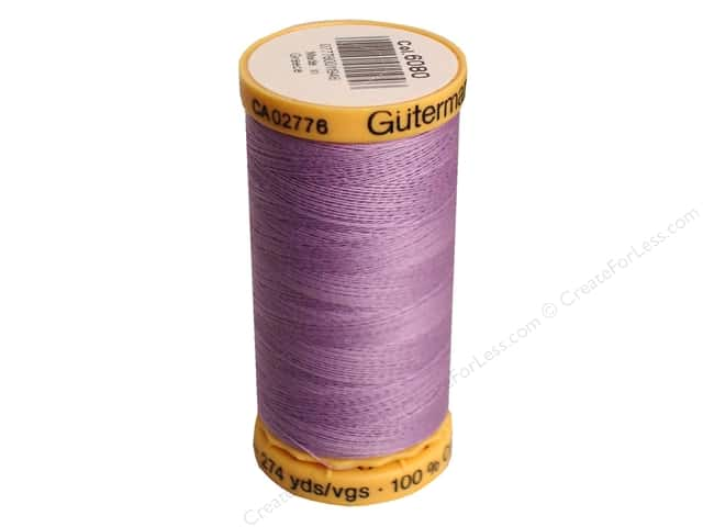 Gutermann 100% Natural Cotton Sewing Thread 273 yd. #6080 Lavender