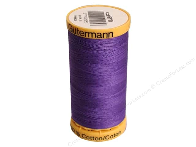 Gutermann 100% Natural Cotton Sewing Thread 273 yd. #6110 Purple