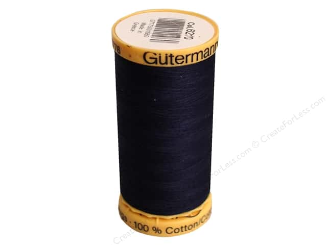 Gutermann 100% Natural Cotton Sewing Thread 273 yd. #6210 Blue Black