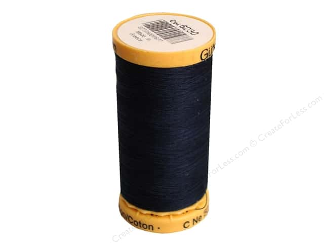 Gutermann 100% Natural Cotton Sewing Thread 273 yd. #6230 Dark Midnite