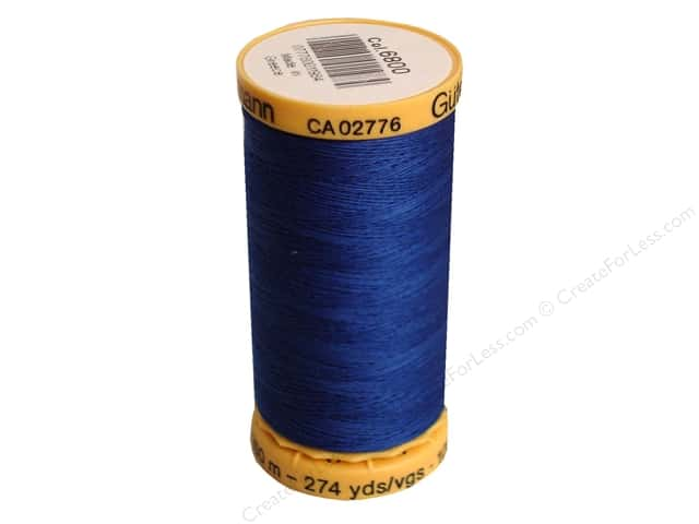 Gutermann 100% Natural Cotton Sewing Thread 273 yd. #6800 Royal