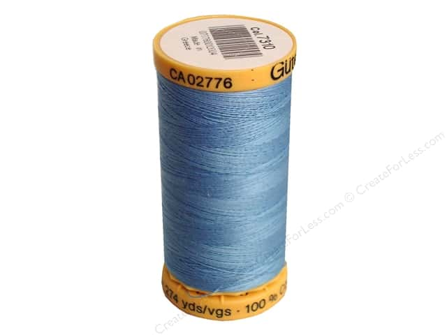 Gutermann 100% Natural Cotton Sewing Thread 273 yd. #7310 Light Blue