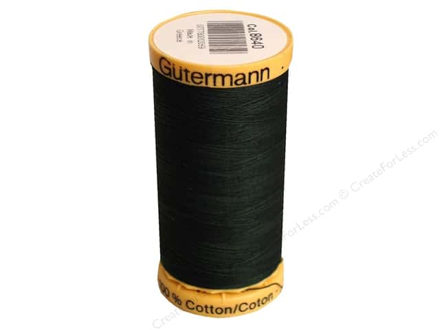 Gutermann 100% Natural Cotton Sewing Thread 273 yd. #8640 Very Dark Green