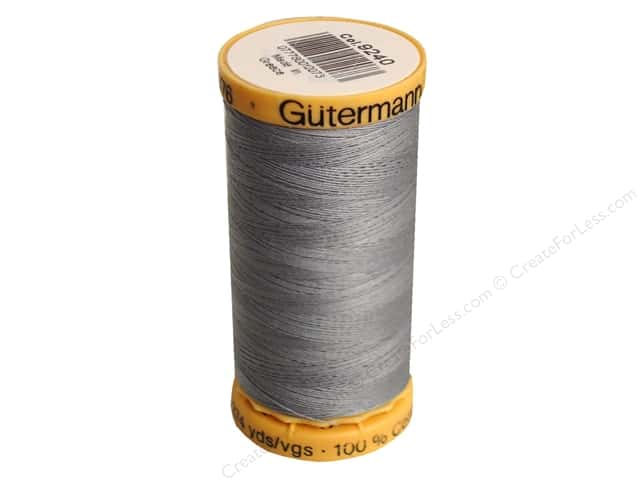 Gutermann 100% Natural Cotton Sewing Thread 273 yd. #9240 Grey Blue