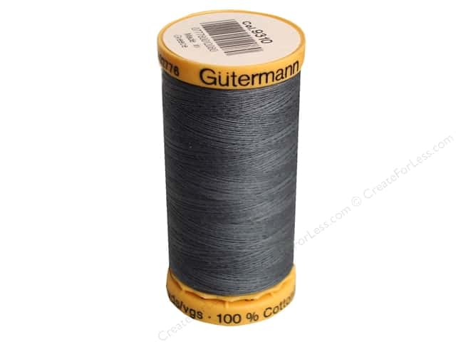 Gutermann 100% Natural Cotton Sewing Thread 273 yd. #9310 Dark Grey