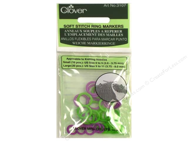 Clover Soft Stitch Ring Markers 30 pc.