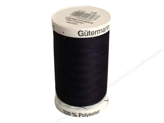 Gutermann Sew-All Thread 547 yd. #10 Black