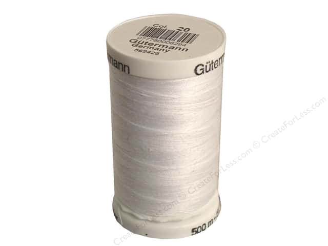 Gutermann Sew-All Thread 547 yd. #20 Nu White