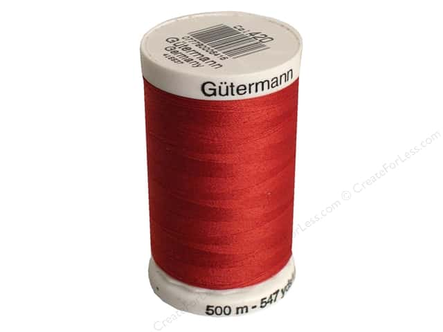Gutermann Sew-All Thread 547 yd. #420 Chili Red