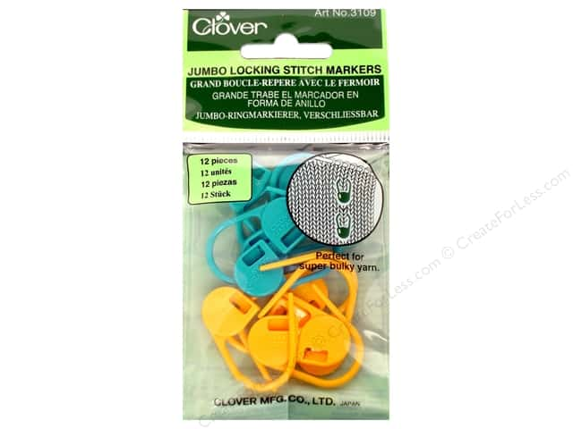 Clover Locking Stitch Markers - Jumbo 12 pc.