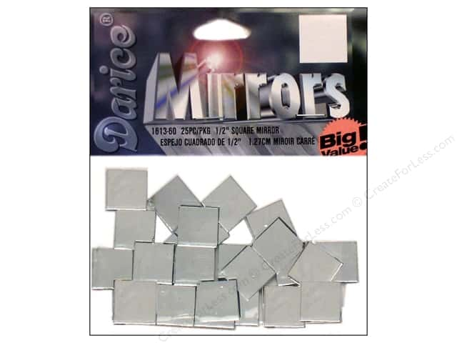 Darice Mirrors Big Value Square 1/2 in. 25 pc.