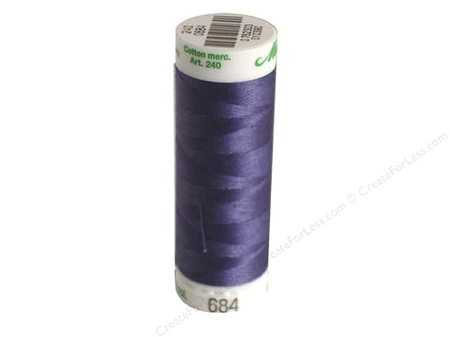 Mettler Silk Finish Cotton Thread 60 wt. 220 yd. #0311 Blue Shadow