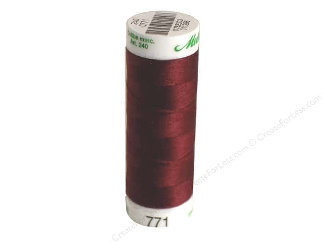 Mettler Silk Finish Cotton Thread 60 wt. 220 yd. #0111 Beet Red