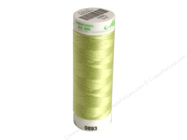 Mettler Silk Finish Cotton Thread 60 wt. 220 yd. #1343 Spring Green