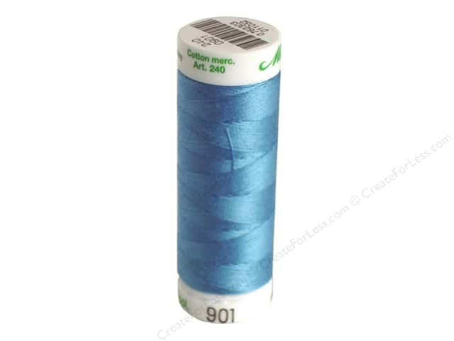 Mettler Silk Finish Cotton Thread 60 wt. 220 yd. #0338 Reef Blue