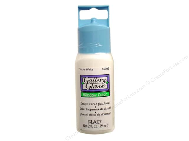 Plaid Gallery Glass Window Color 2 oz. Snow White