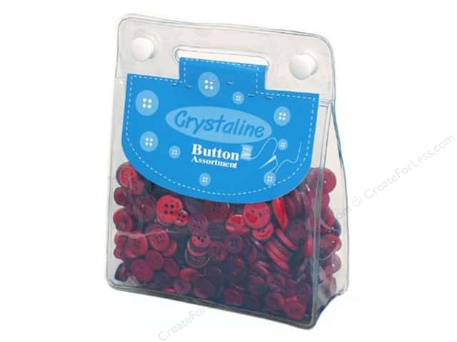 Dara Crystaline Button Assortment Dark Red