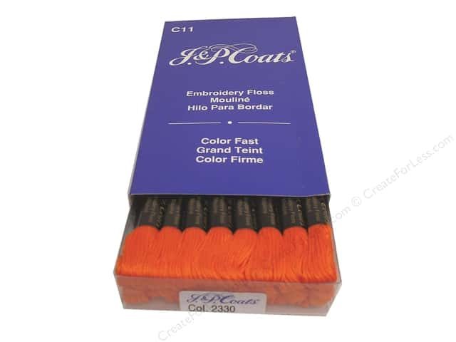 J & P Coats Six-Strand Embroidery Floss #2330 Burnt Orange (24 skeins)