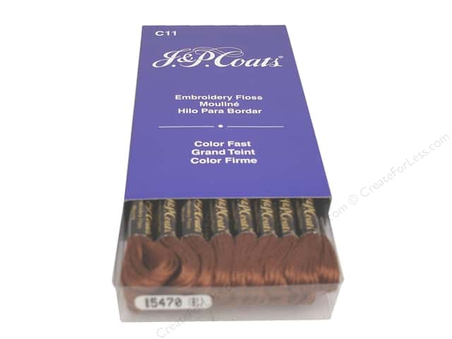 J & P Coats Six-Strand Embroidery Floss #5470 Brown (24 skeins)