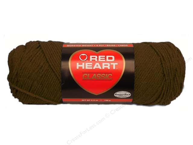 Red Heart Classic Yarn #365 Coffee 190 yd.