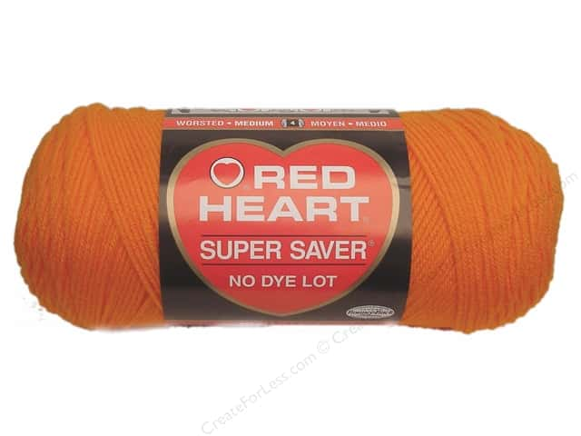 Red Heart Super Saver Yarn #0254 Pumpkin 364 yd.