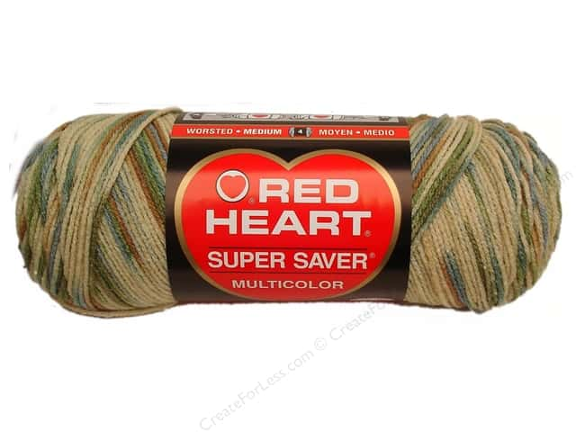 Red Heart Super Saver Yarn #0305 Aspen Print 236 yd.