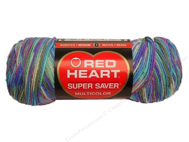 Red Heart Super Saver Yarn #0310 Monet Print 244 yd.