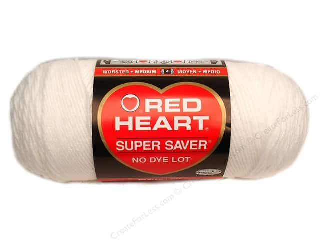 Red Heart Super Saver Yarn #0311 White 364 yd.