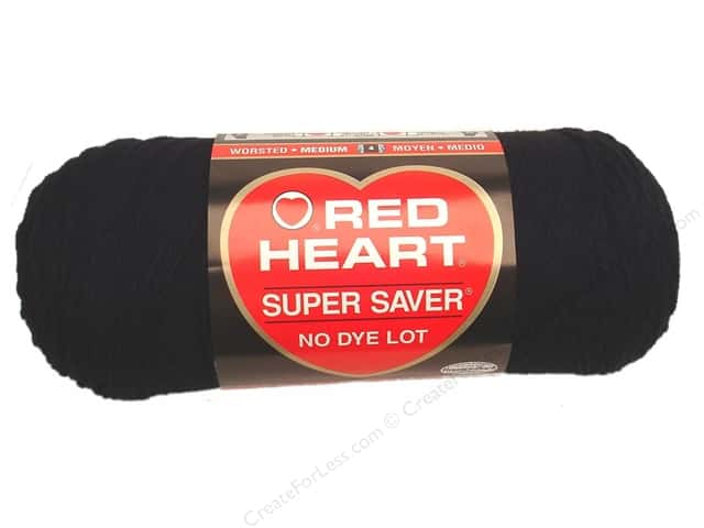 Red Heart Super Saver Yarn 364 yd. #0312 Black