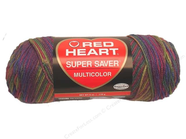 Red Heart Super Saver Yarn #0315 Artist Print 244 yd.