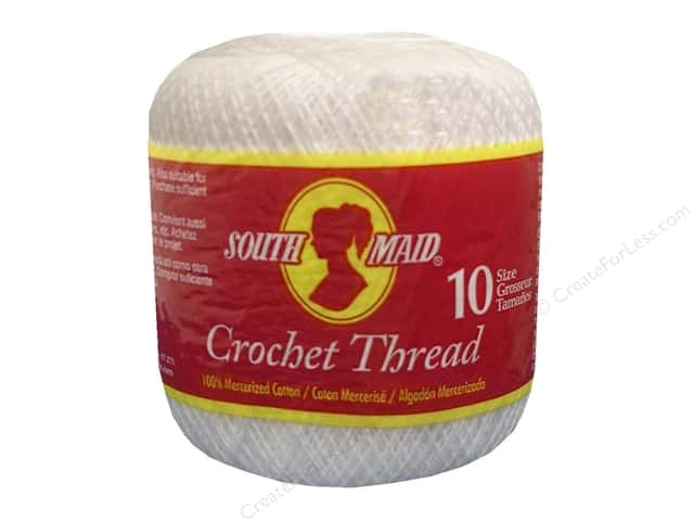 South Maid Crochet Cotton Thread Size 10 #1 White