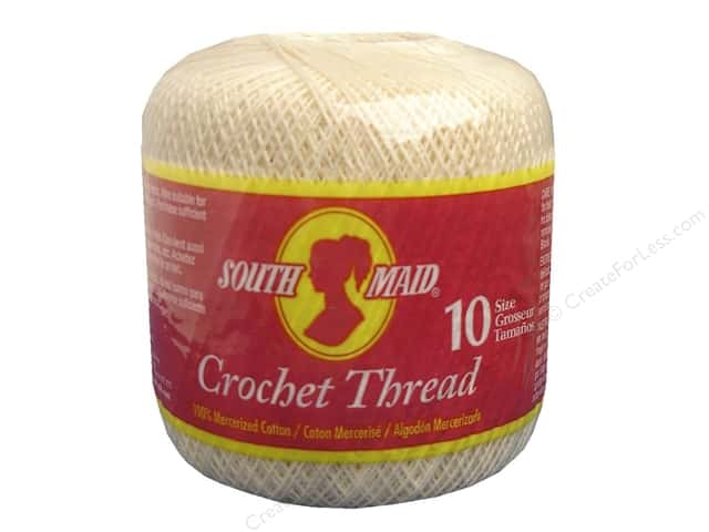 South Maid Crochet Cotton Thread Size 10 #430 Cream