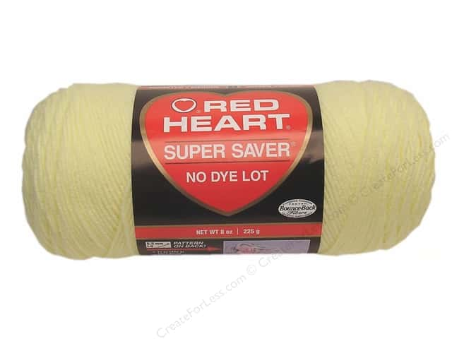 Red Heart Super Saver Yarn #0322 Pale Yellow 364 yd.