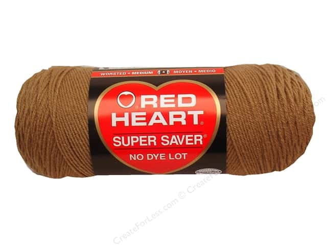 Red Heart Super Saver Yarn 364 yd. #0336 Warm Brown