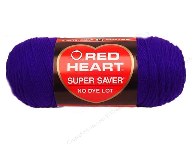 Red Heart Super Saver Yarn #0906 Amethyst 244 yd.