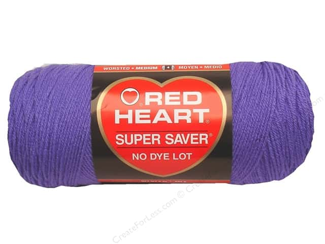 Red Heart Super Saver Yarn 364 yd. #0358 Lavender
