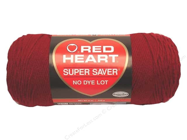 Red Heart Super Saver Yarn #0376 Burgundy 364 yd.