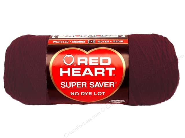 Red Heart Super Saver Yarn #0378 Claret 364 yd.